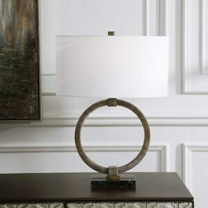 RELIC MODERN TRIBAL INSPIRED ACCENT TABLE LAMP MARBLE BASE UTTERMOST 28371