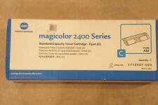 GENUINE Konica Minolta Magicolor 2400 Series Toner Cartridge Cyan