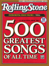 ROLLING STONE-500 GREATEST SONGS OF ALL TIME-VIOLA VOLUME 1 MUSIC BOOK/CD-NEW!!