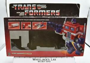Optimus Prime Box Only 1985 Action Figure Vintage Hasbro G1 Transformers