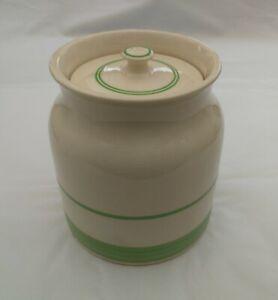 Vintage Rare 4 Pints Sadler Kitchenware Pot/Container With Lid-Green Details