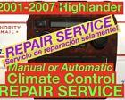 REPAIR SVC 2005 Toyota Highlander A/C Heater Climate Control 01 02 03 04 06 07