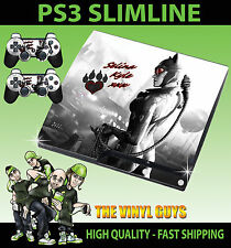 PLAYSTATION PS3 SLIM STICKER CATWOMAN GOTHAM GIRLS BATMAN SKIN & 2 PAD SKINS