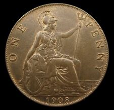 More details for edward vii 1908 bronze penny - gef