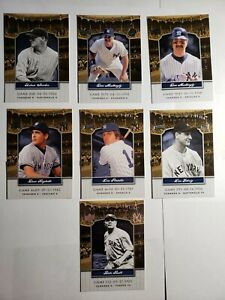 2008 Upper Deck Yankee Stadium Legacy Collection Lot of 7 Cards NM/MT