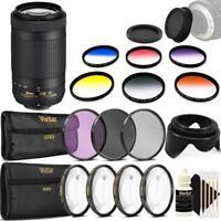 Nikon AF-P DX NIKKOR 70-300mm f/4.5-6.3G ED VR Lens and Accessory Bundle