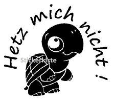 2 x JDM OEM Schildkröte Hetz mich nicht Aufkleber sticker decal 12 cm