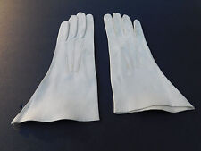 DESIGNER LADIES CREAM SOFT LEATHER GLOVES UNLINED SIZE  6