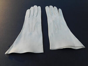 **DESIGNER LADIES CREAM SOFT LEATHER GLOVES UNLINED SIZE  6