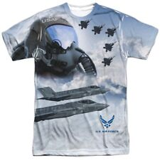 Authentic US Air Force USAF Pilot Flying FRONT only T-shirt S M L X 2X 3X top