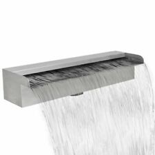 vidaXL Rectangular Waterfall Pool Fountain Stainless Steel 45 Cm
