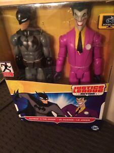 NEW DC Comics Mattel 2 Batman & The Joker Action Figures Justice League Set NIB