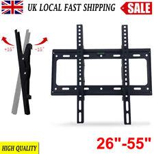 Black Tilt ±15° TV Wall Bracket Mount 26 32 40 42 46 50 52 55'' LED LCD Plasma