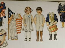 "Amazing! Wwi Vintage antique patriotic paper dolls, 6""T. Really Cute!"
