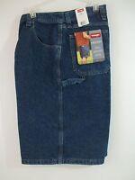 NWT Wrangler Carpenter Dark Denim Blue Jean Shorts Tech Pocket SZ 30 40 & 44