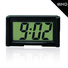 Mini LCD Screen Digital Clock Self-Adhesive Interior Car Auto Desk Dashboard