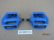 NEW BICYCLE 1/2'' BLUE ALUMINUM PEDALS FOR BMX, CRUISER, MTB, TRICYCLE