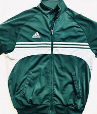 Adidas Green & White Full Zip Jacket Size Medium M