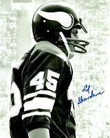 Signed 8x10 ED SHAROCKMAN  Minnesota Vikings Autographed photo - w/COA