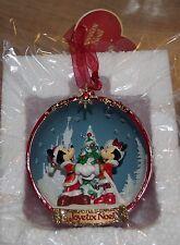 Disney Store Mickey Y Minnie Mouse abierto Adorno Decoración del árbol de Navidad Rojo