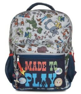 """Disney Toy Story 4 16"""" Kids' Made To Play School Backpack With Laptop Sleeve NWT"""