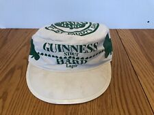 VINTAGE PROMO PAINTER HAT GUINNESS STOUT HARD LAGER HAPPY ST. PADDY'S DAY CLOVER