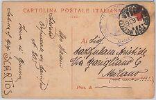 RED CROSS ---- ITALY - POSTAL HISTORY - POSTCARD : FIELD POST  franchigia  1916