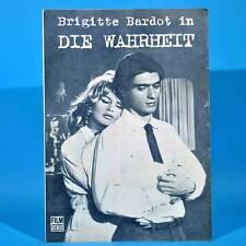 """2188 Film Für Sie 21/1970 DDR """"Die Wahrheit"""" Brigitte Bardot Marie-Jose Nat"""