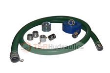 2 Green Water Suction Hose Honda Complete Kit With50 Blue Discharge Hose