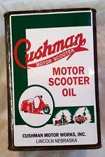 CUSHMAN MOTOR SCOOTER OIL CAN Sticker Decal VESPA LAMBRETTA MOD