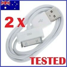 2 x USB Sync Cable Charger for Apple iPhone 4 4S 3GS iPod Touch iPad Data Cord