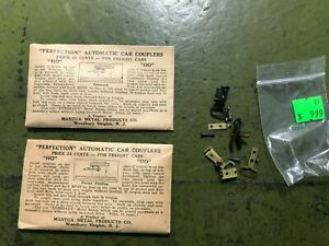 1940s MANTUA brass couplers, 2pr  NOS in original packaging and 2 pr used