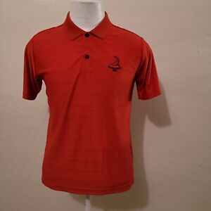 ADIDAS  CLIMALITE MEN'S RED SHORT SLEEVE ATHLETIC POLO SHIRT SIZE L