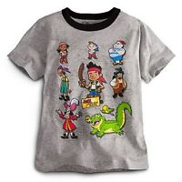 NWT Disney Store Jake and the Never Land Pirates Crew Tee T-Shirt Top NEW M 7 8