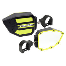 """Pro Armor Side View Breakaway Mirrors Set Lime 1.75"""" Polaris Can-Am Universal"""