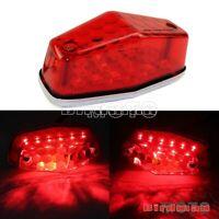 12V Lucas Style LED Tail Light Lamp Brake Stop Light For Dual Sport MX Universal