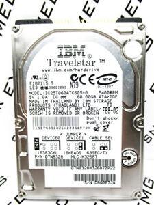 IBM 60GB TravelStar IC25T060ATCS05 IDE 07N8328 Hard Drive H32687 WIPED & TESTED!