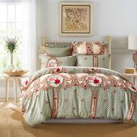 Rose Flower Printed Bed Duvet Cover Set Bedding Set Twin Queen King Ultra Soft