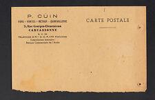 """CARCASSONNE (11) QUINCAILLERIE & METAUX """"P. CUIN"""" Commande au verso en 1949"""