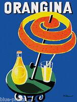 """orangina villemot vintage art print poster for your glass frame 36"""" x 24"""""""