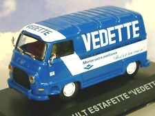 "EXCELLENT DIECAST 1/43  RENAULT ESTAFETTE VAN ""VEDETTE"" IN BLUE & WHITE"