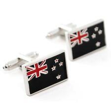 NEW ZEALAND FLAG CUFFLINKS PAIR High Quality NEW w GIFT BAG World Kiwi Jewelry