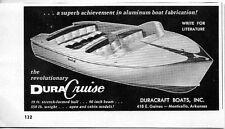 1956 Vintage Ad DuraCraft Boats Dura Cruise Monticello,Arkansas