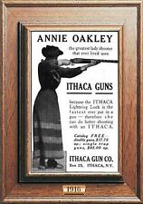 MAGNET Firearms Photo Magnet Ad ITHACA GUNS Advertisement 1916 Annie Oakley