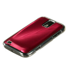 SAMSUNG GALAXY S2 T989 T-MOBILE BRUSHED ALUMINUM PLATE ACRYLIC CASE RED