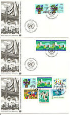 United Nations / Vienna SC # 1-6 United nations Type Of Geneva FDC.7 Covers Set
