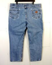 vtg 90s Carhartt men's Light Wash Traditional Fit Denim Jeans Work sz 46 X 30
