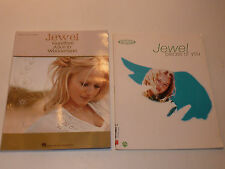 2x JEWEL Goodbye Alice in Wonderland piano VOCAL PARTITION sheet music SONGBOOK
