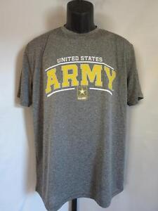 Neuf États-unis Armée Hommes Grande Taille (L) Gris Athlétique Chemise