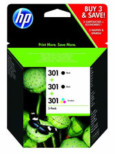 HP 301 2x Black & Colour Ink Cartridge Combo - FREE & FAST Delivery!